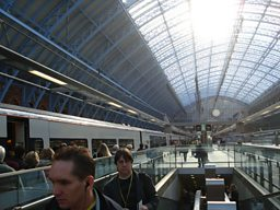 St Pancras Station in London