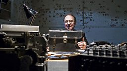 Ben Macintyre at Bletchley Park with the briefcase