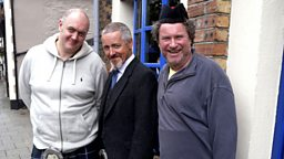 Photo: Dara O'Briain, Griff Rhys Jones and Rory McGrath
