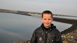 Photo: Robbert by the Oosterschelde storm surge barrier