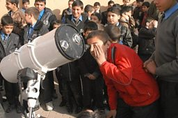 Amateur astronomers stargazing in Kabul