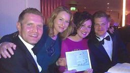 The JVS Show winning Silver for Best Speech Programme at the Sony Radio Academy Awards