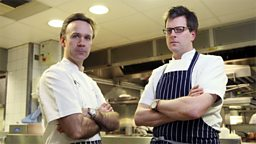 Photo: Marcus Wareing and William Sitwell