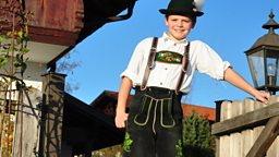 Photo: Philipp wearing Tracht