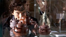 Sherlock and John at the museum