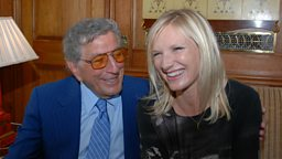 Tony Bennett and Jo Whiley