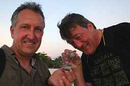 Stephen and Mark with some turtles