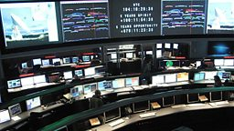 Photo: NASA control room