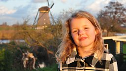 Photo: Donna at Kinderdijk