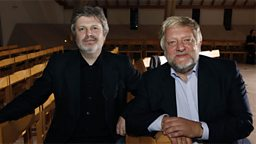 Photo: James Macmillan and Simon Russell Beale