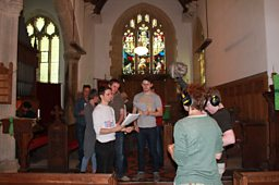 On location in Iddesleigh church