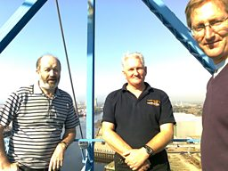 At the top of the Transporter Bridge