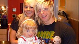 Photo: (l-r) Laura Richards, Jono Lancaster and Maisie