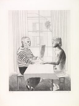 Artist and Model 1973-74 - David Hockney