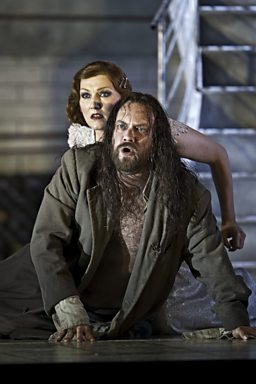Johan Reuter as Jokanaan & Angela Denoke as Salome
