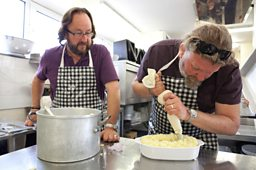 Hairy Bikers' on a budget - Can you come up with a delicious 2 course lunch for just 1.25?
