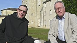 Photo: Diarmaid MacCulloch and Father Lucien Jean Bord