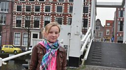 Photo: Ike by a bridge in Haarlem, The Netherlands