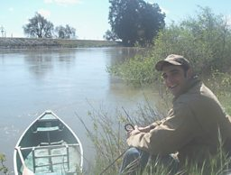 Biologist and pear farmer Brett Baker surveys the Delta