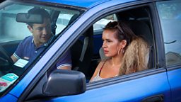 Marcus (Warren Brown) and Gina (Kierston Wareing)