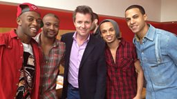 Nicky bumps into JLS