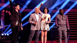 The Voice UK coaches on stage
