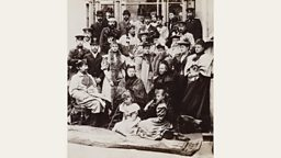 Photograph of Queen Victoria and her family, taken at Coburg by E. Uhlenhuth in 1894