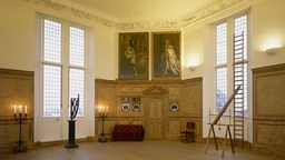 Royal Greenwich Observatory, commissioned by Charles II, 1675, portraits of Charles II and James II can be seen on the wall