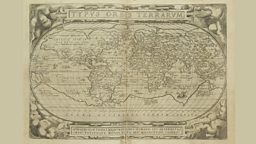 A map of 1587 from the book Theatre de l'univers by Abraham Ortelius