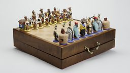 Chess set presented to The Duke of Edinburgh by Nelson Mandelain in 1996