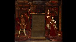 The Whitehall Mural by Remigius van Leemput after a mural by Hans Holbein the Younger, painted for Henry VIII in 1537
