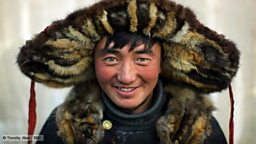 Man in Mongolian dress