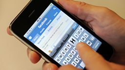 Facebook page on a smart phone