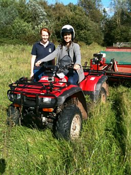 Julia Bradbury on a quad bike