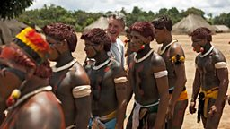 Wauja tribe Brazil with Michael Palin