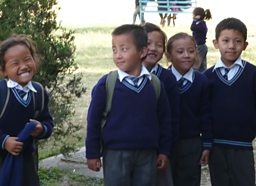 Photograph of Tibetan refugee children
