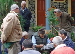 Photograph of Jampaling Old People's Home near Pokhara in western Nepal