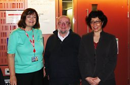 Bridget Kendall, Thomas Keneally, Fadia Faqir in the Forum studio. 24-10-2012
