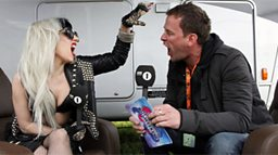 Scott Mills + Lady Gaga at Big Weekend