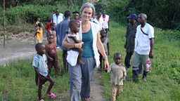 MSF medical team visiting local people in the Congo rainforest