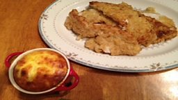 Southern Style Fried Turkey, Sweetcorn Pudding