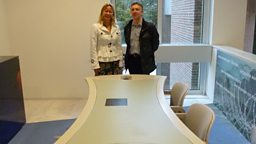 John and Sonja at the Maastricht Treaty table