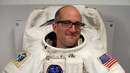 Mark Miodownik in a spacesuit