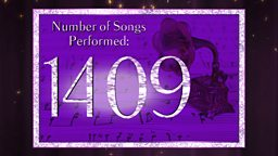 Number of songs performed