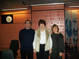 Richard, Pam Ayres and Sian