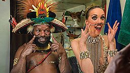 Papuan chief and French dancer