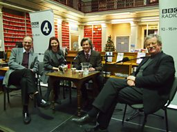 Melvyn Bragg and the panel at Newcastle's Literary and Philosophical Society
