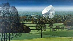 Jodrell Bank from around Pex Hill, Cheshire (by D Alun Evans)