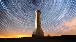 Hardy's monument star trail