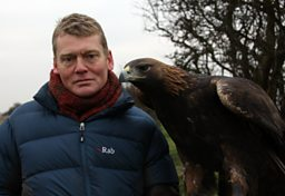 Tom with eagle
